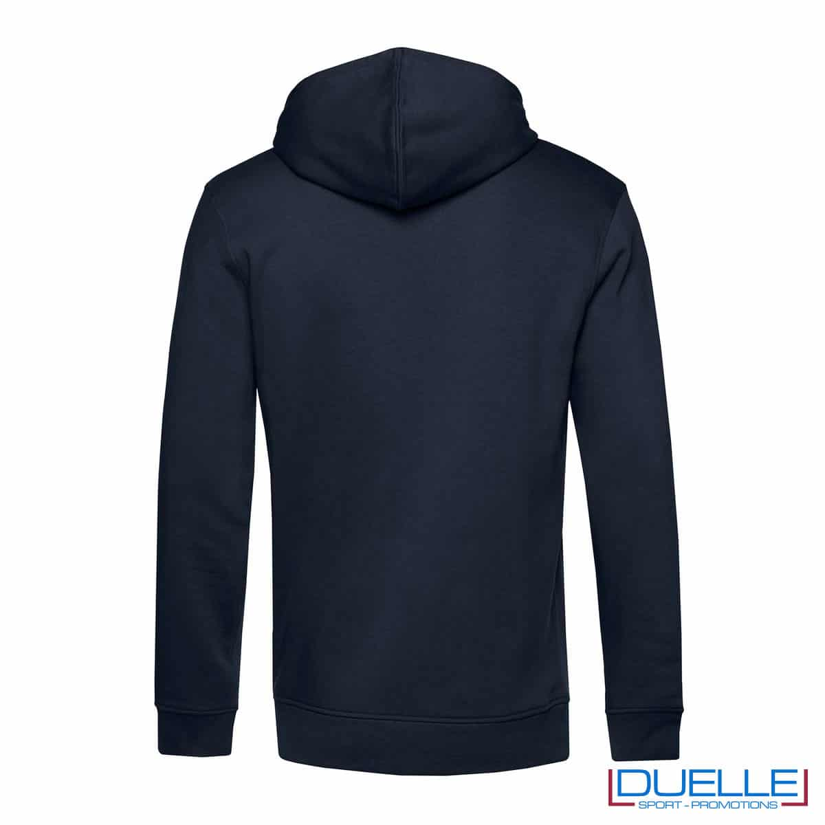 Felpa eco-friendly in cotone e R-PET blu navy retro