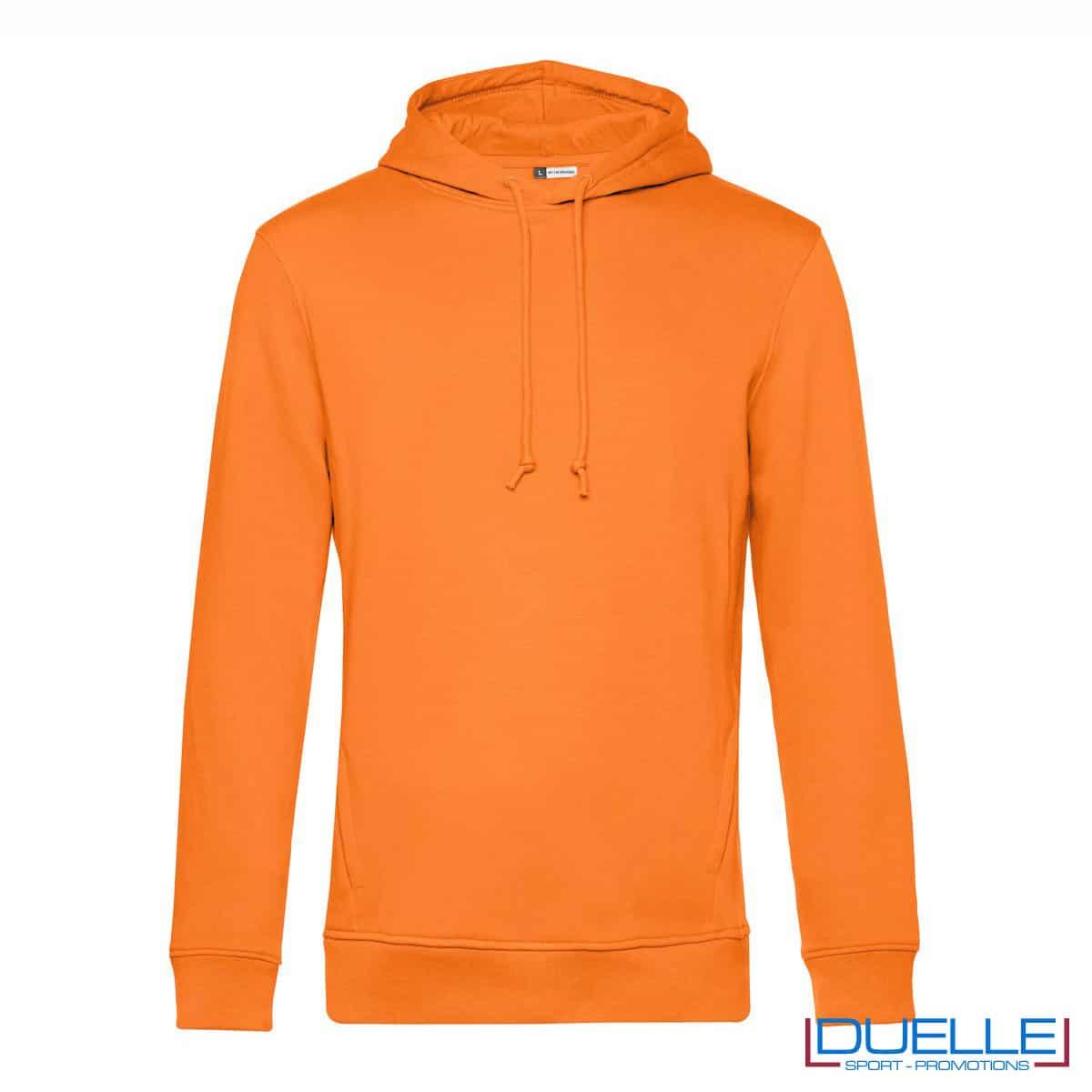 Felpa eco con cappuccio arancione