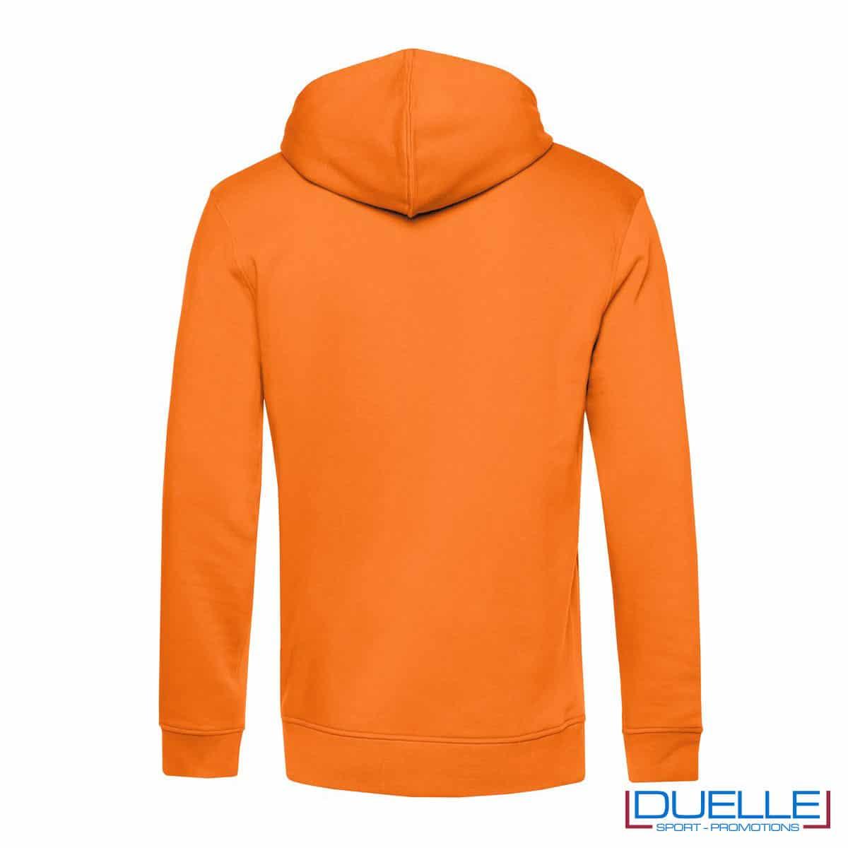 Felpa eco con cappuccio arancione retro