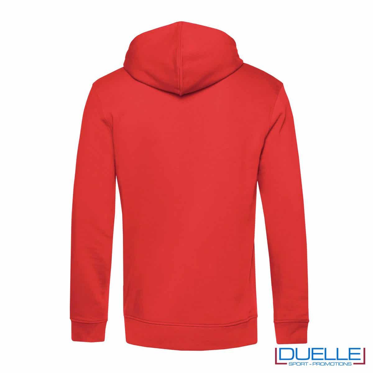 Felpa eco con cappuccio rosso retro