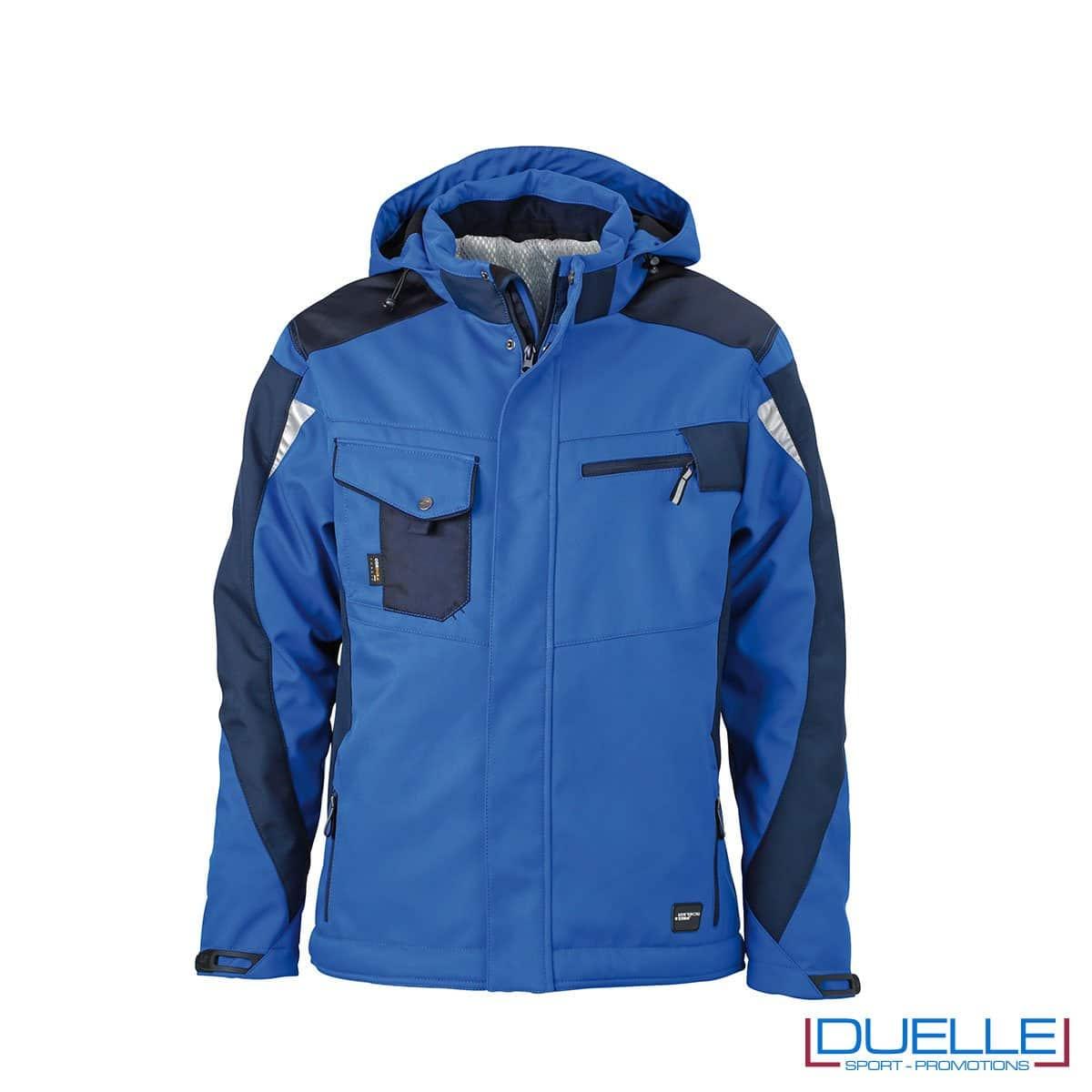 Giubbotto da lavoro personalizzato in colore blu royal