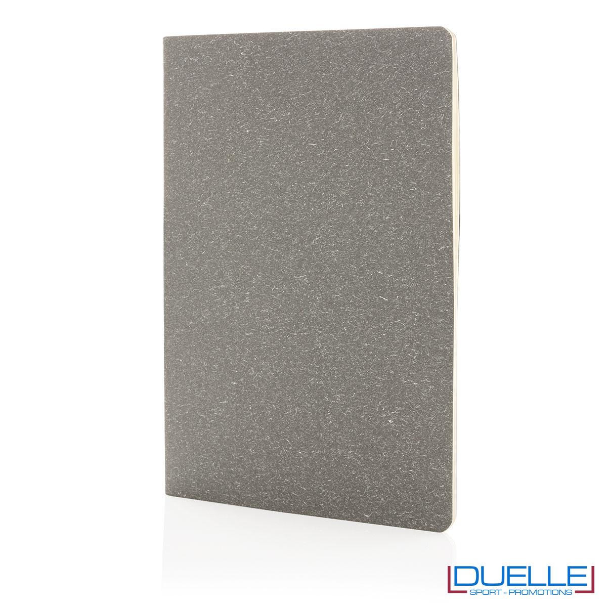 Taccuino per appunti A5 copertina flessibile di profilo - grigio