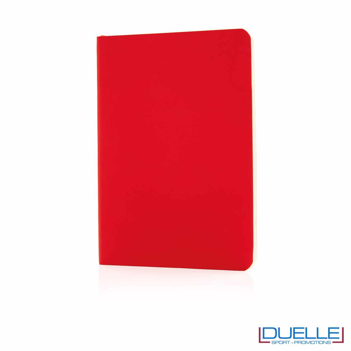Taccuino flessibile con segnapagina - rosso