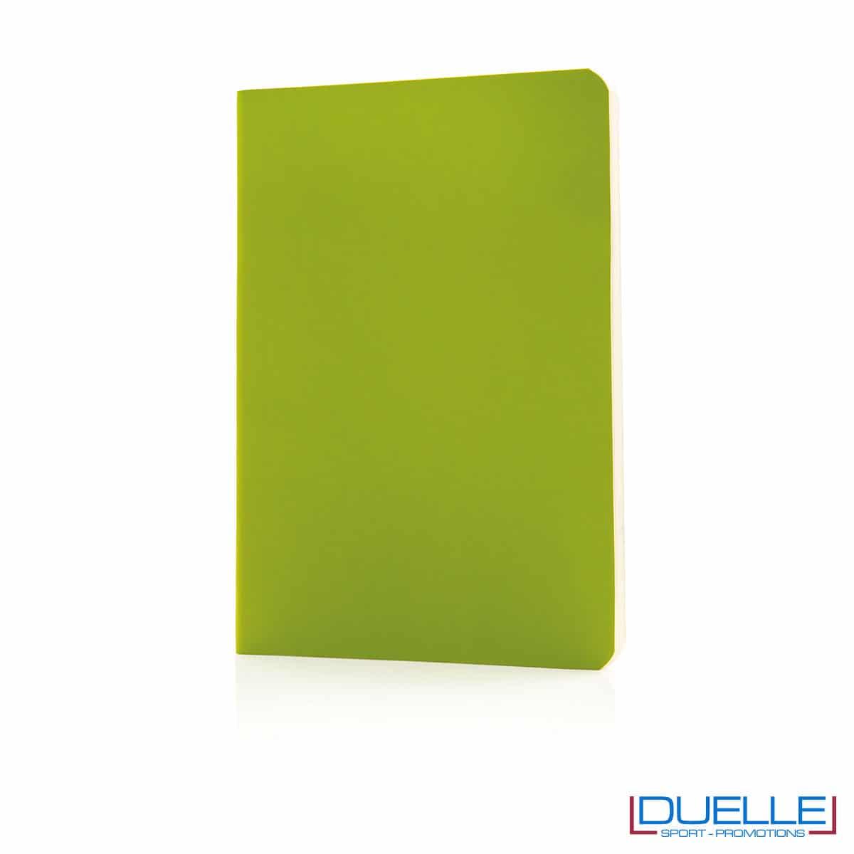 Taccuino flessibile con segnapagina - verde