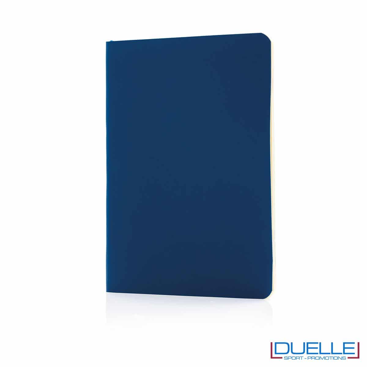 Taccuino flessibile con segnapagina - blu