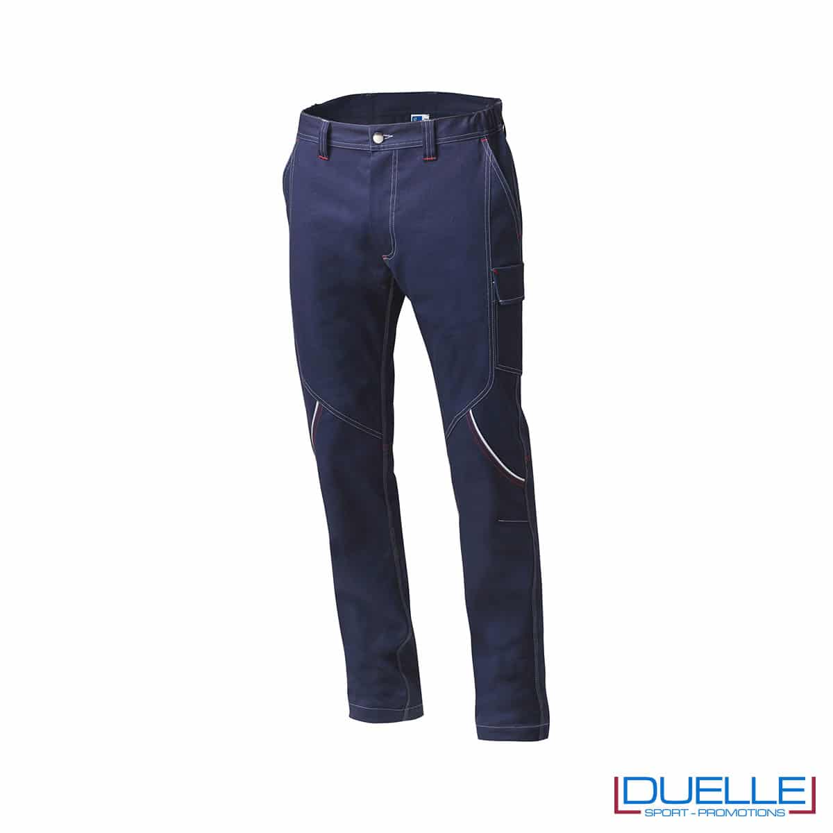 Pantaloni blu Boston SIGGI per lavoro da personalizzare