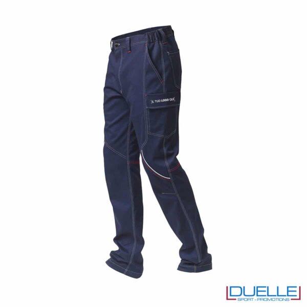 Pantaloni BOSTON SIGGI blu personalizzabili con il tuo logo
