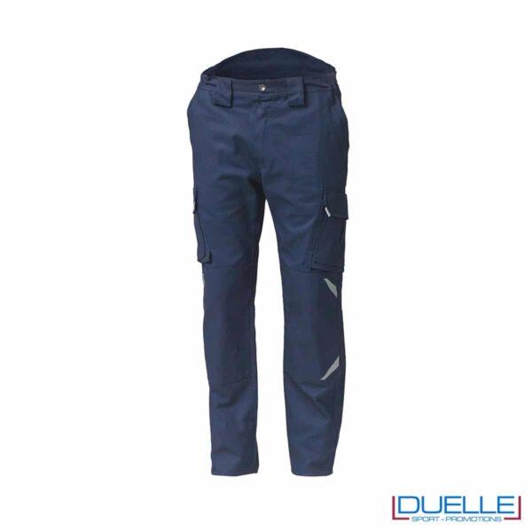Pantaloni tuta da lavoro TASK blu personalizzabili