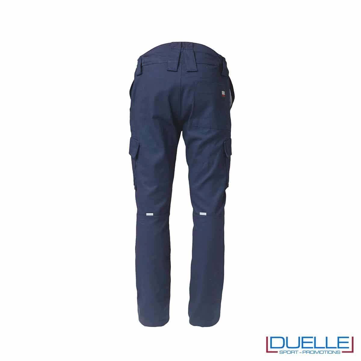 Pantalone da lavoro inverno TASK blu retro