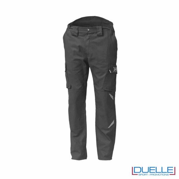 Pantaloni TASK da lavoro grigi personalizzabili con logo