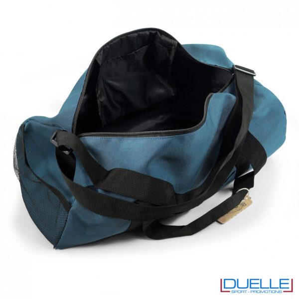 Capiente borsone in R-pet personalizzatocolore blu