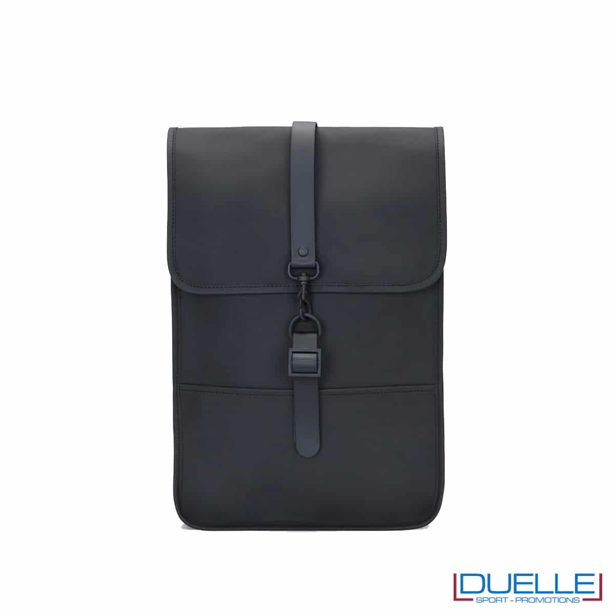 Backpack mini Rains® colore nero personalizzato