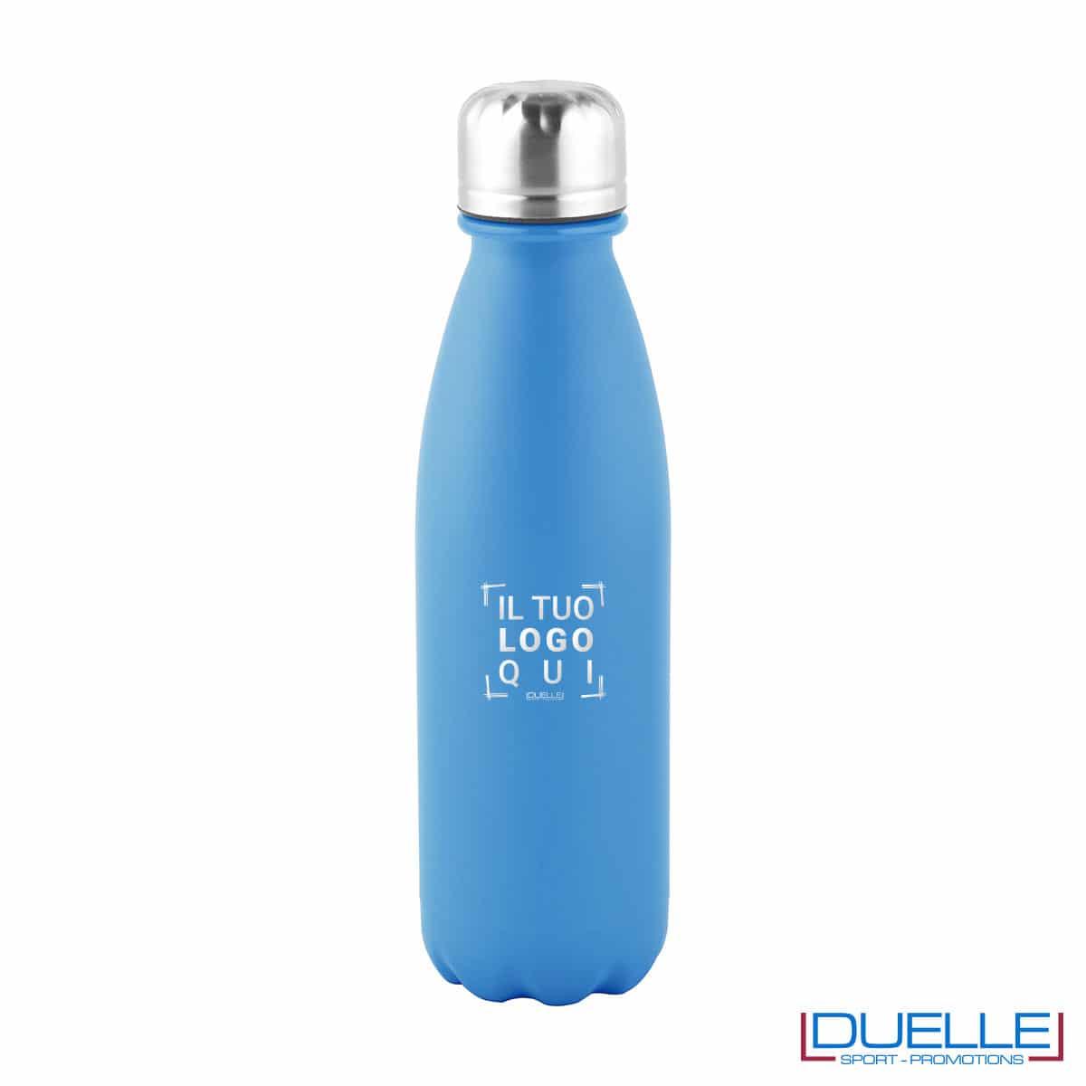 Bottiglia in alluminio 500ml finitura opaca colore azzurro