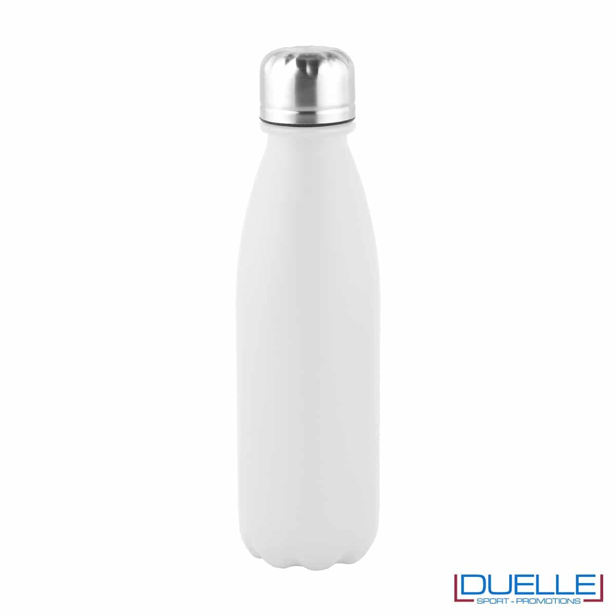 Bottiglia in alluminio 500ml finitura opaca colore bianco personalizzabile