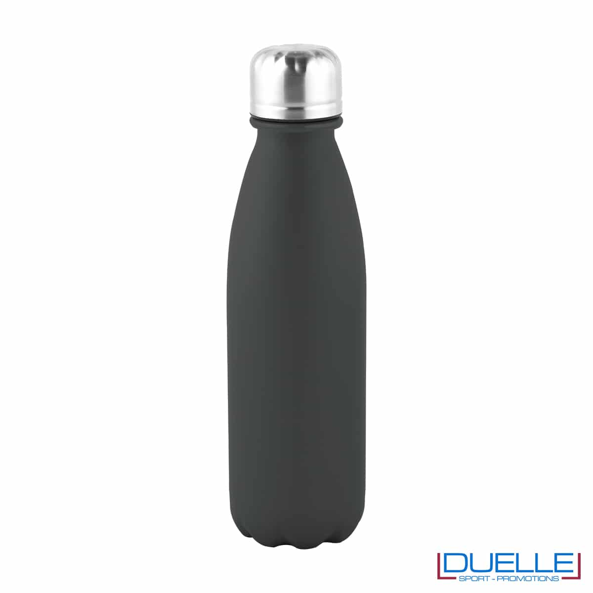 Bottiglia in alluminio 500ml finitura opaca colore nero tappo acciaio