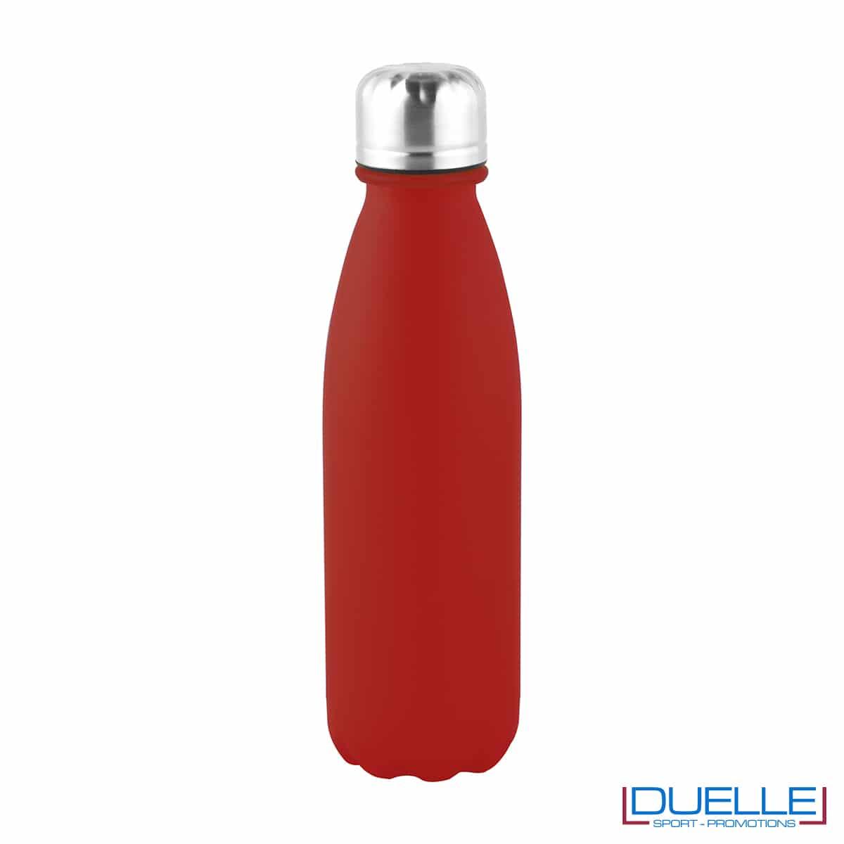 Bottiglia promozionale in alluminio 500ml finitura opaca colore rosso