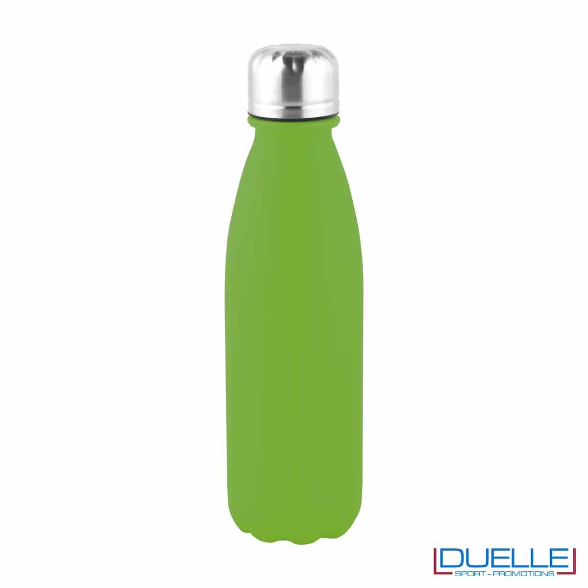 Bottiglia in alluminio 500ml promozionale finitura opaca colore verde acido