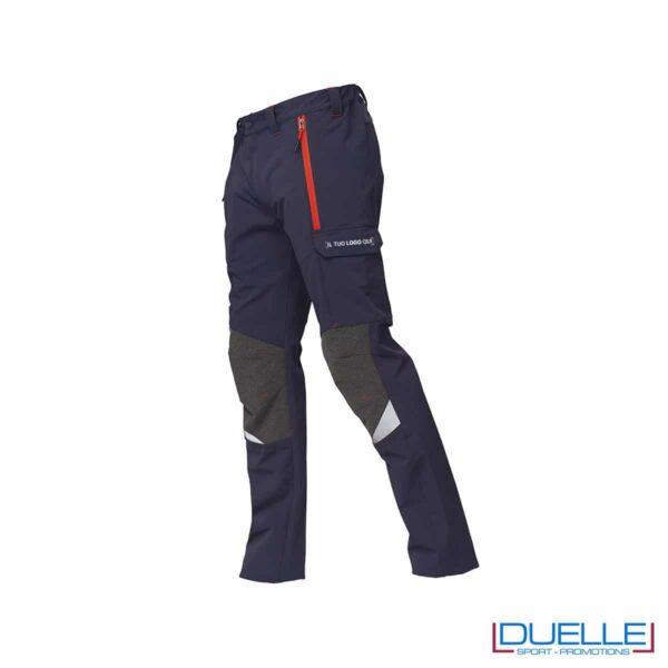 Pantaloni professionali Finder di Siggi colore blu personalizzati con stampa