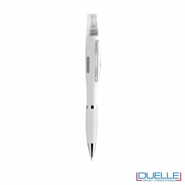 Penna spray per liquido igienizzante colore bianco