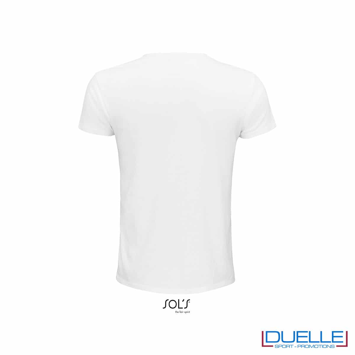 Retro T-shirt ecosostenibile in cotone biologico colore bianco personalizzata