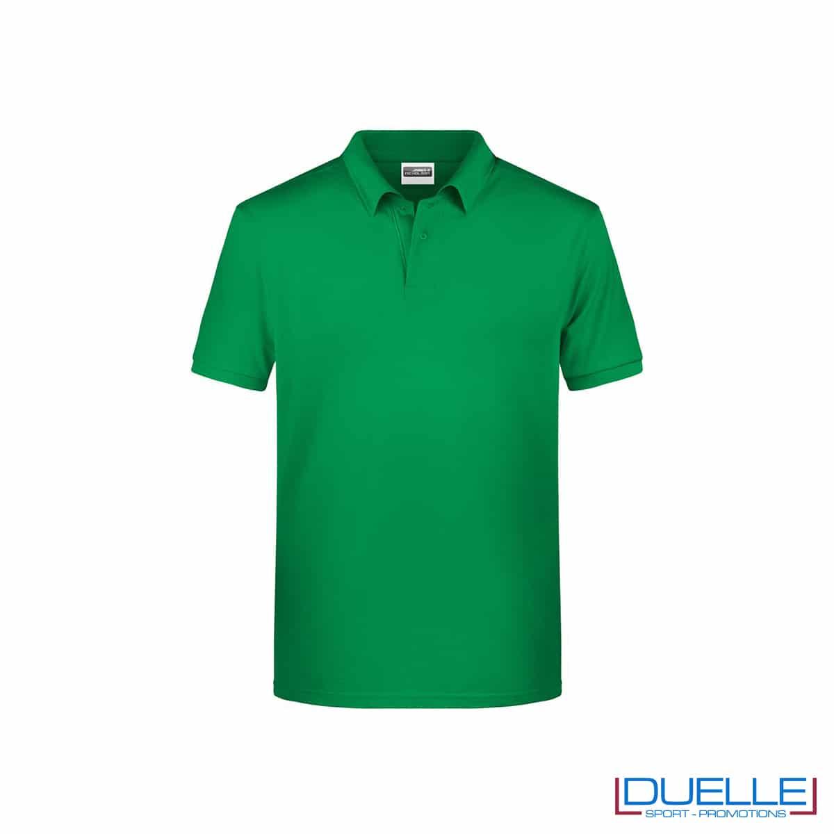 Polo ecologica 100% cotone organico colore verde bandiera