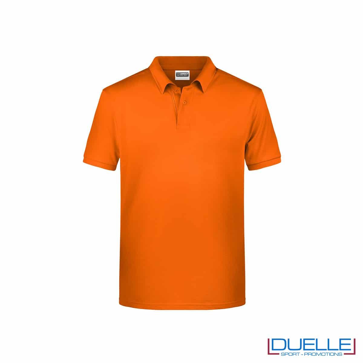 Polo ecologica 100% cotone organico colore arancione