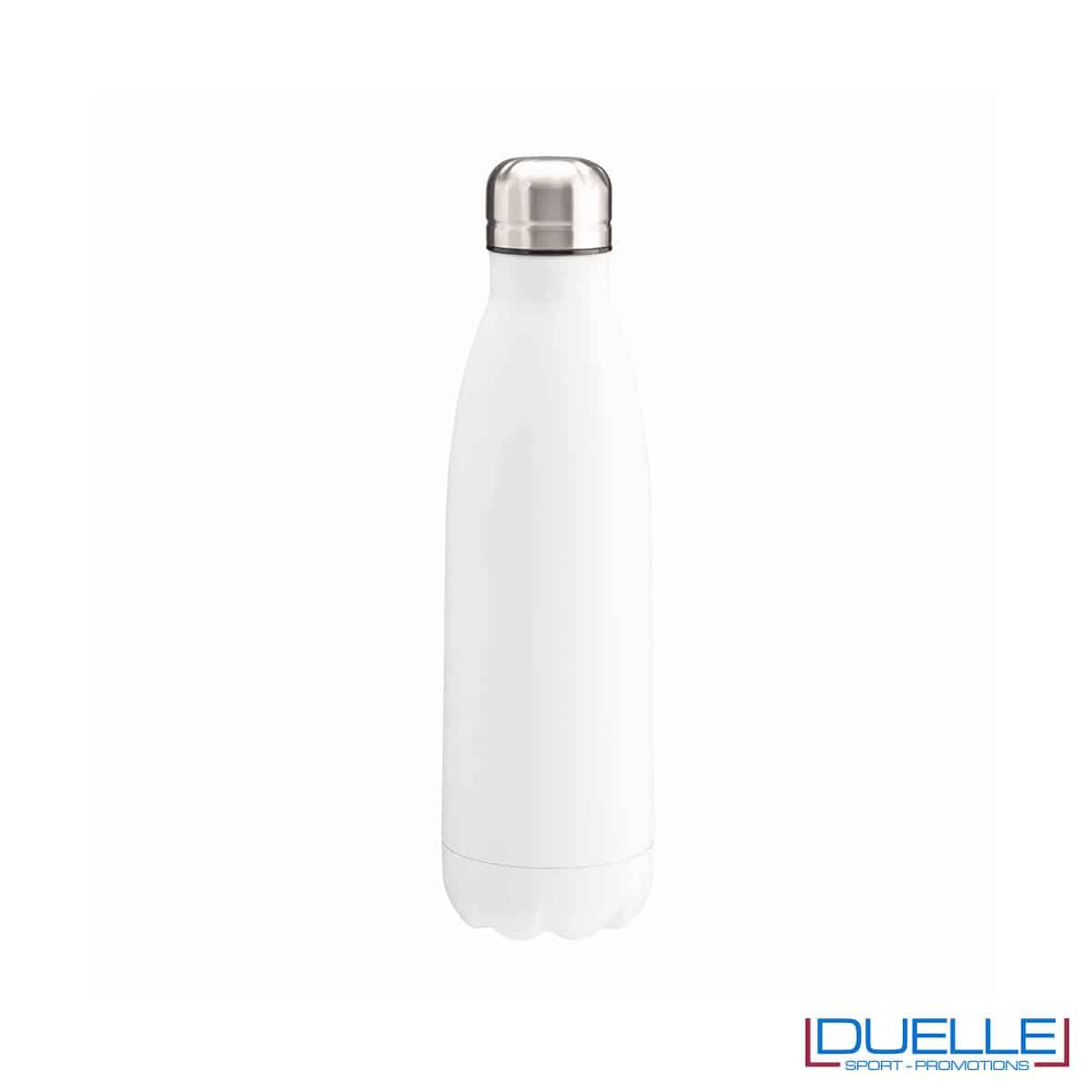 Borraccia termica in acciaio 500 ml colore bianco personalizzata
