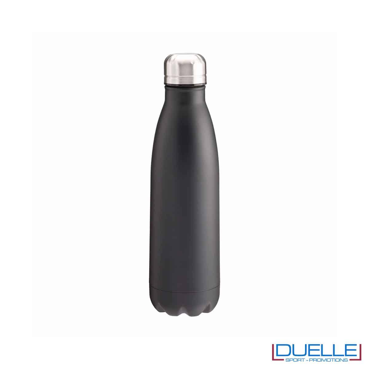 Borraccia termica in acciaio 500 ml colore nero personalizzata