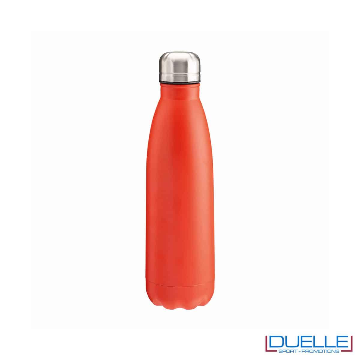 Borraccia termica in acciaio 500 ml colore rosso personalizzata