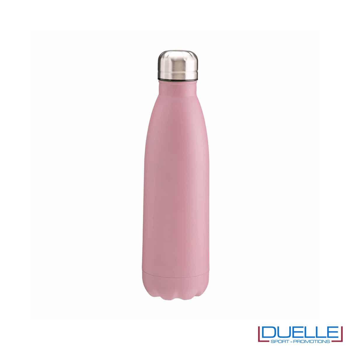 Borraccia termica in acciaio 500 ml colore rosa personalizzata