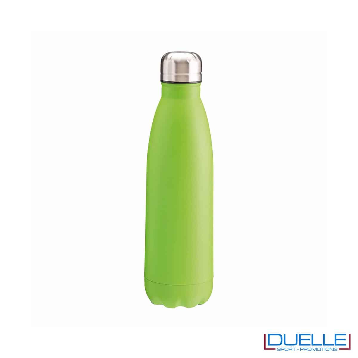 Borraccia termica in acciaio 500 ml colore verde personalizzata