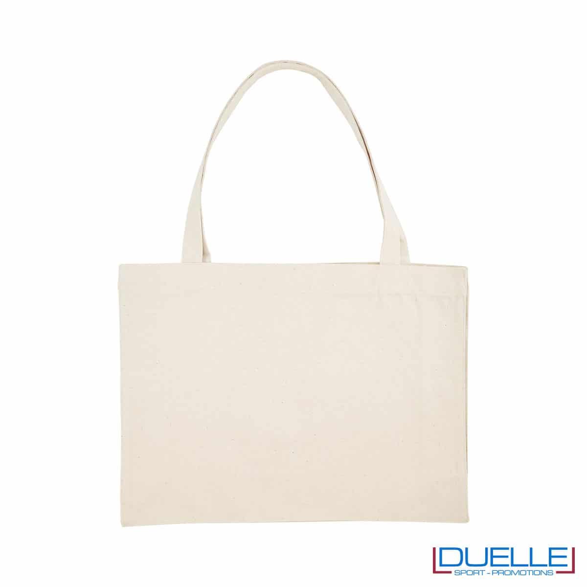 Shopper in cotone riciclato e R-pet