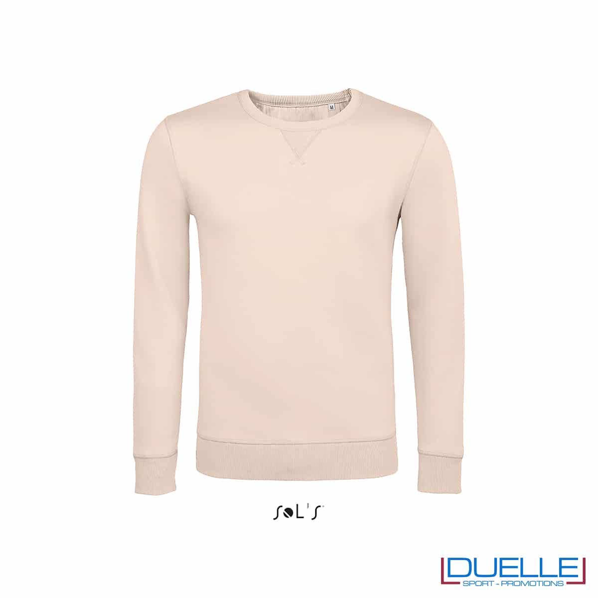 Felpa in cotone LSF colore rosa pastello