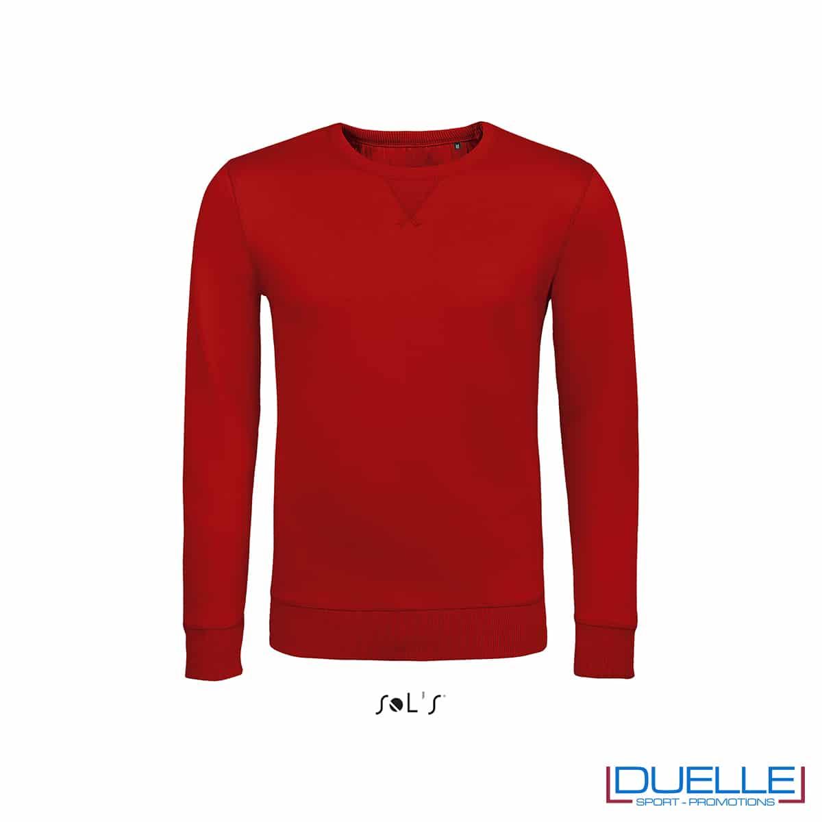 Felpa in cotone LSF colore rosso