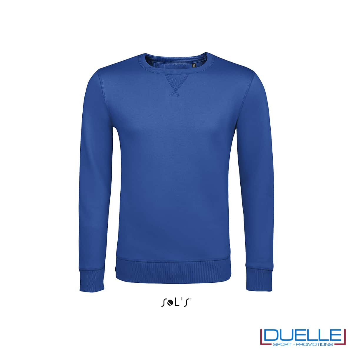 Felpa in cotone LSF colore blu royal