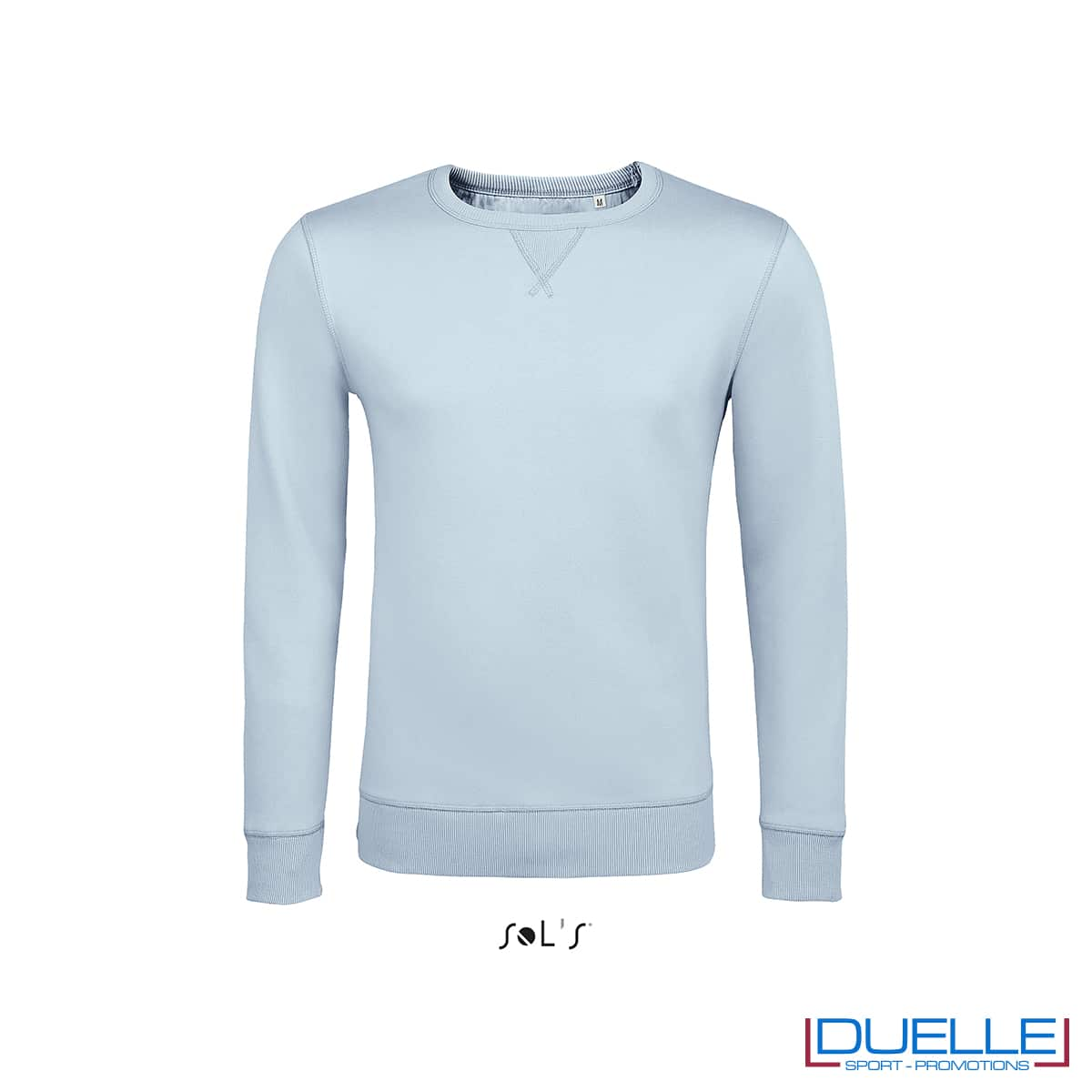 Felpa in cotone LSF colore azzurro pastello