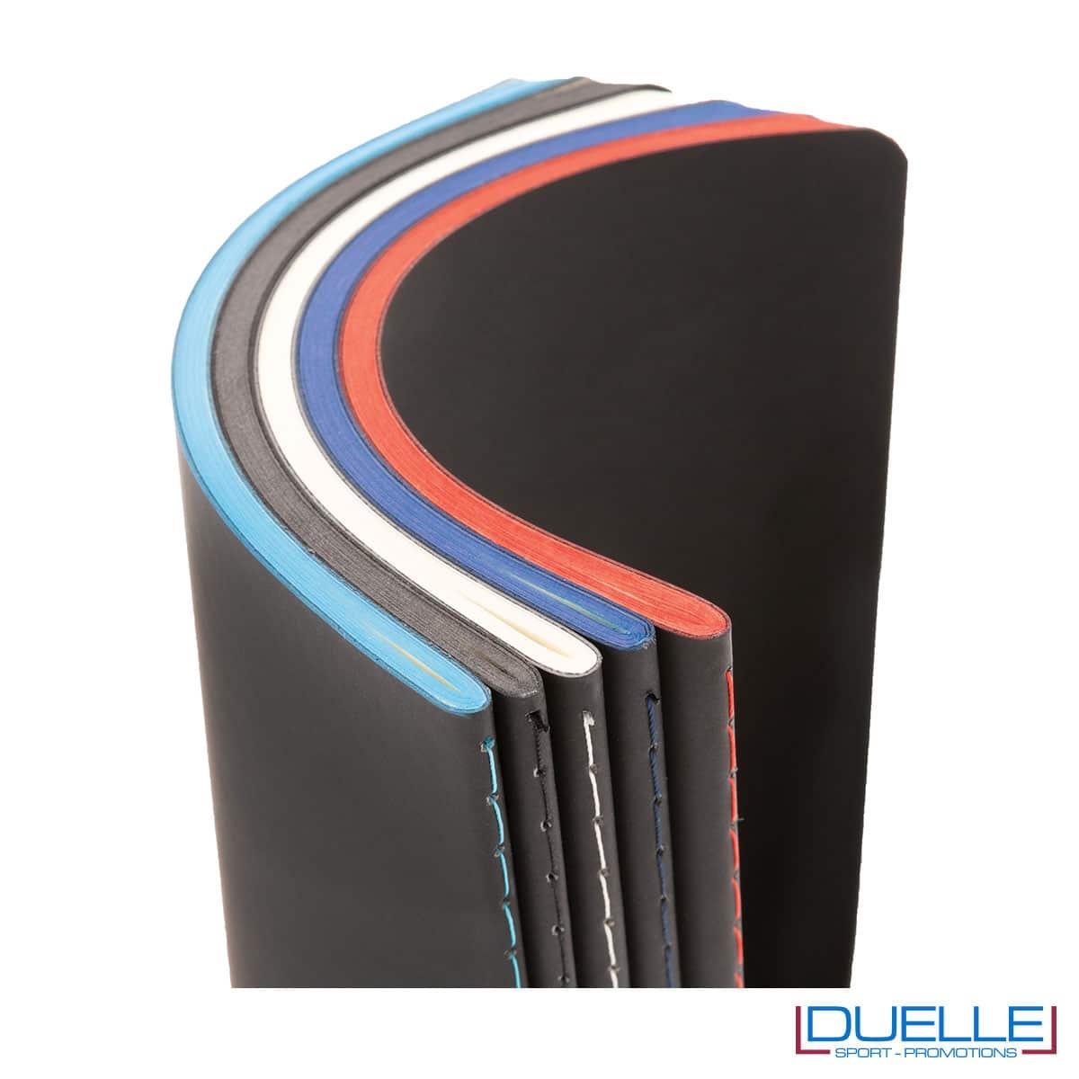 Blocchetti appunti con bordo colorato e con copertina flessibile