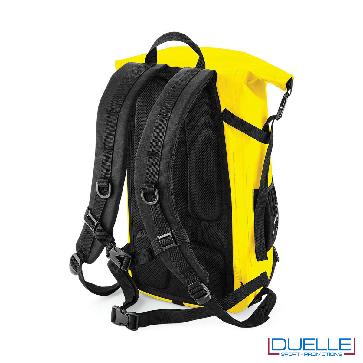 Zaino impermeabile schiena imbottita colore giallo personalizzato