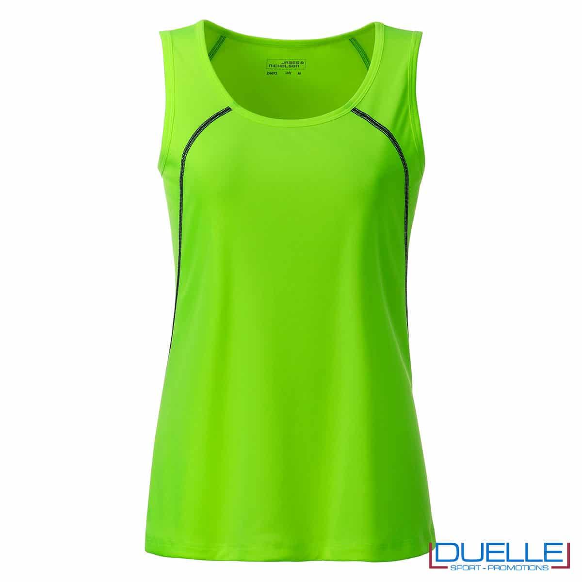 Canotta verde donna sport