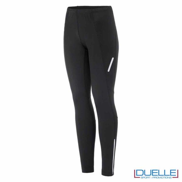 Pantaloni sportivi felpati donna colore nero personalizzati