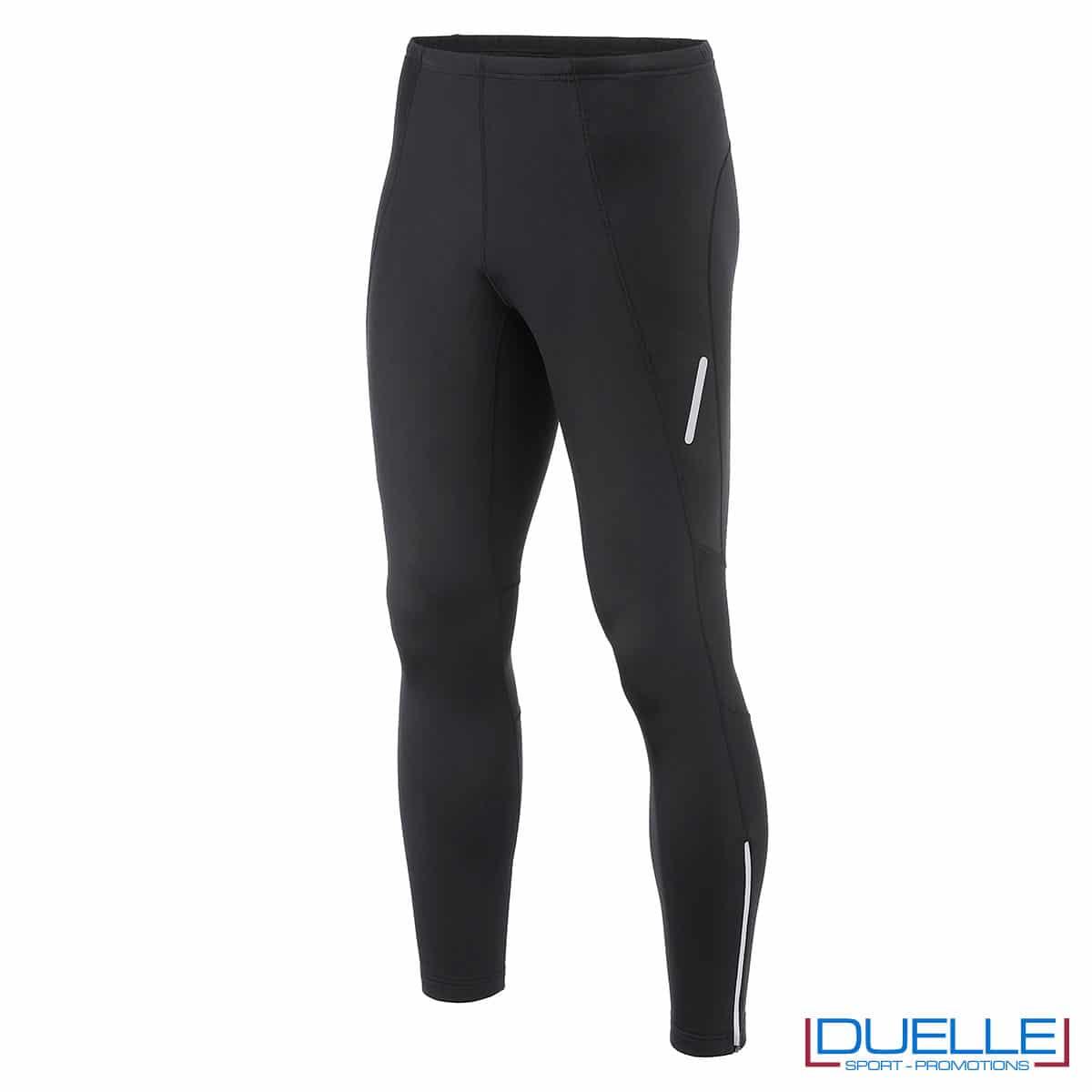 Pantaloni sportivi felpati uomo colore nero personalizzati