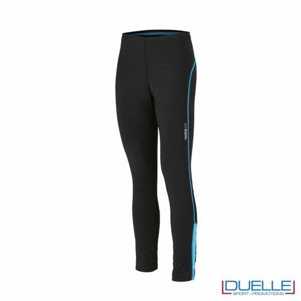 Pantaloni running nero /azzurro personalizzati