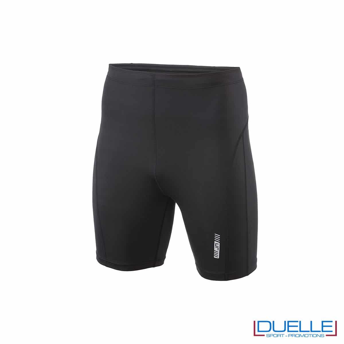 Pantaloncini running personalizzati colore nero