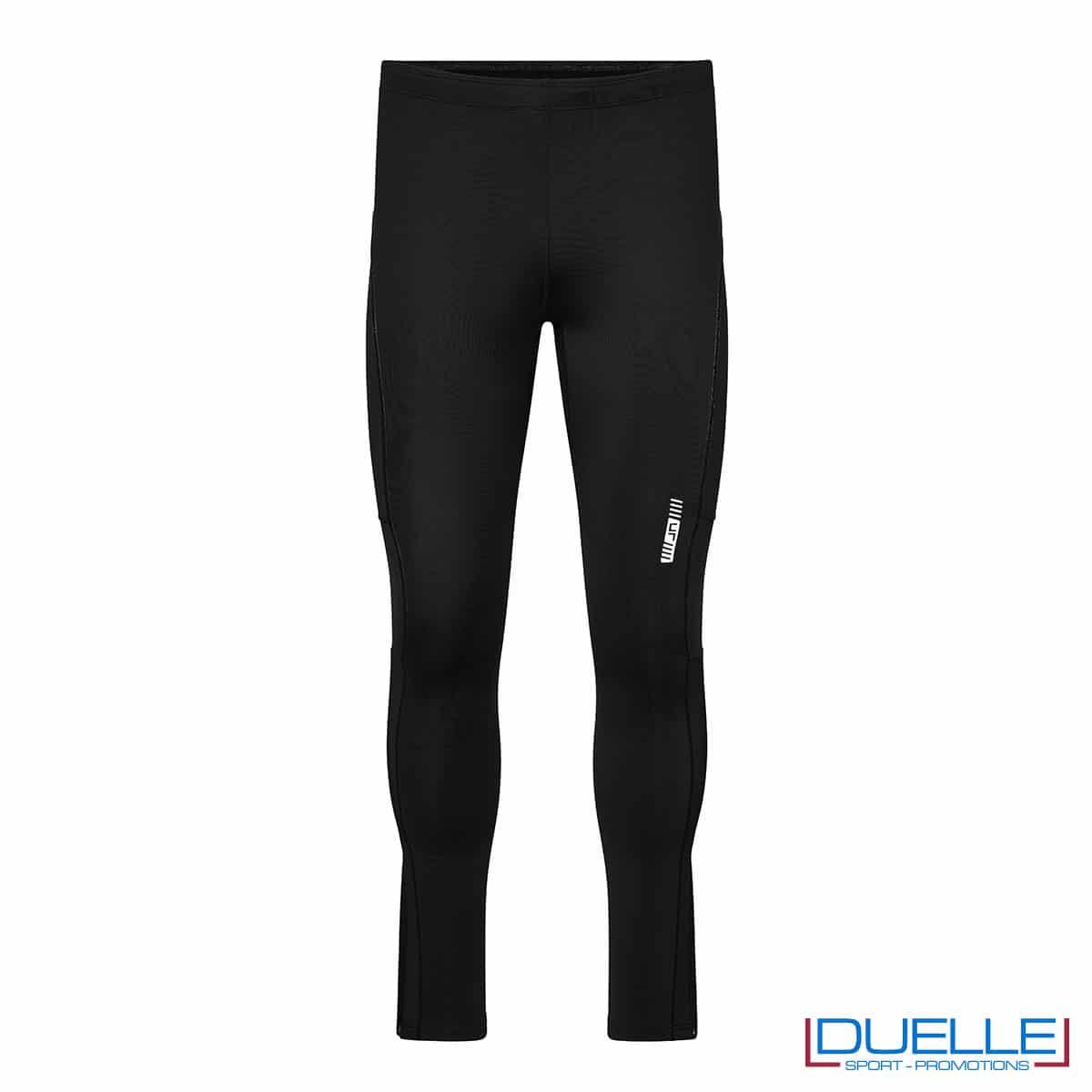 Pantaloni running nero personalizzati