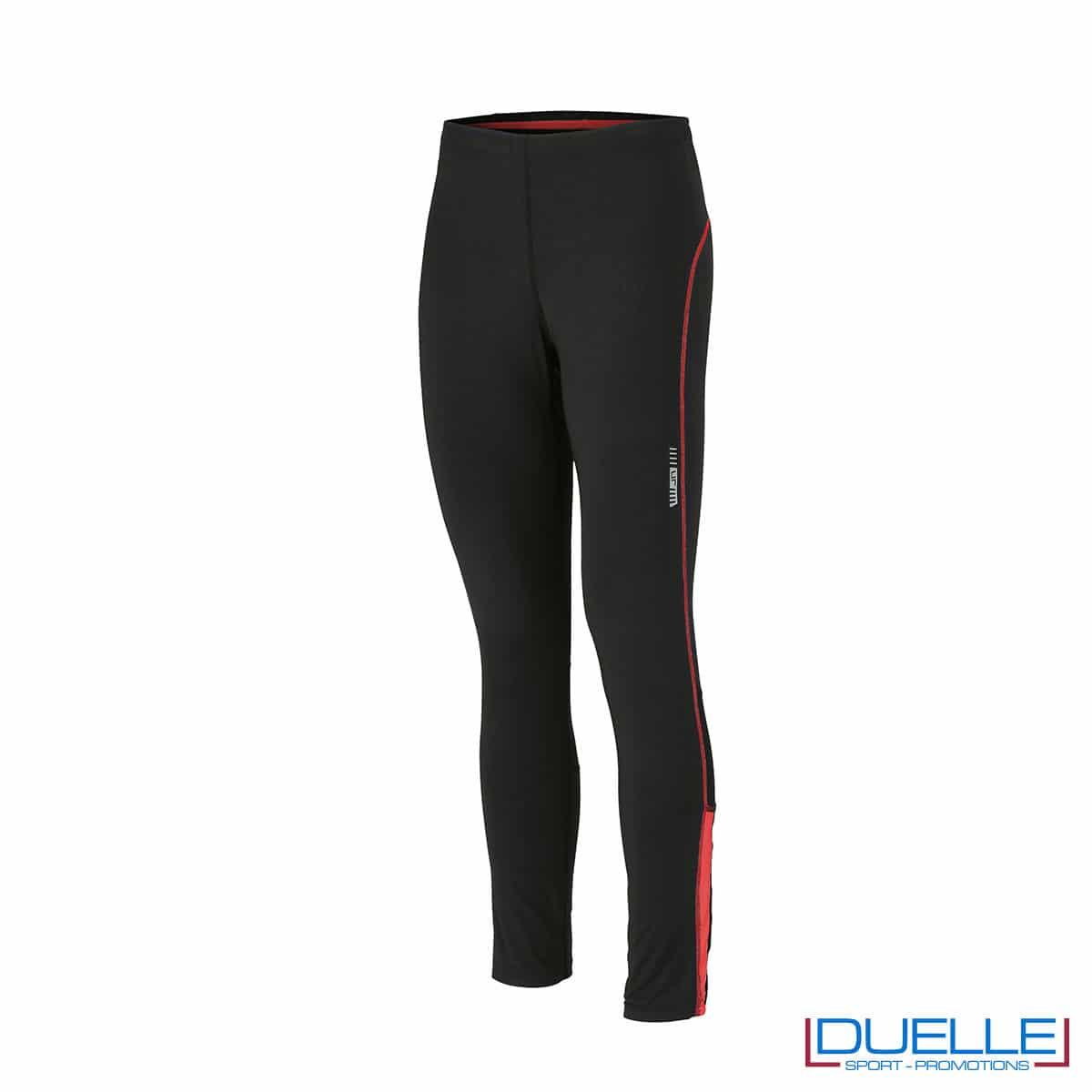 Pantaloni running nero /rosso personalizzati