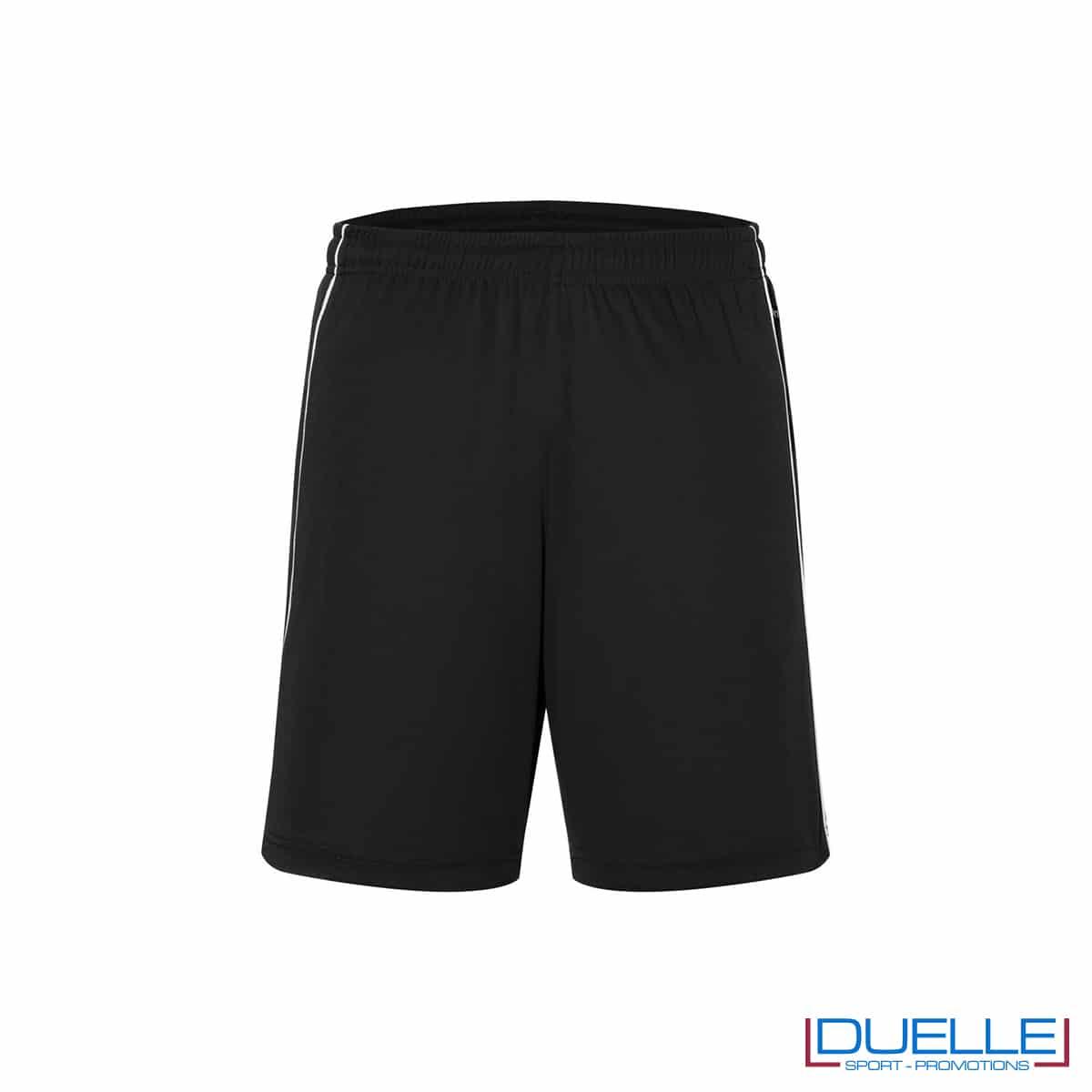 Pantaloncino calcio colore nero promozionale