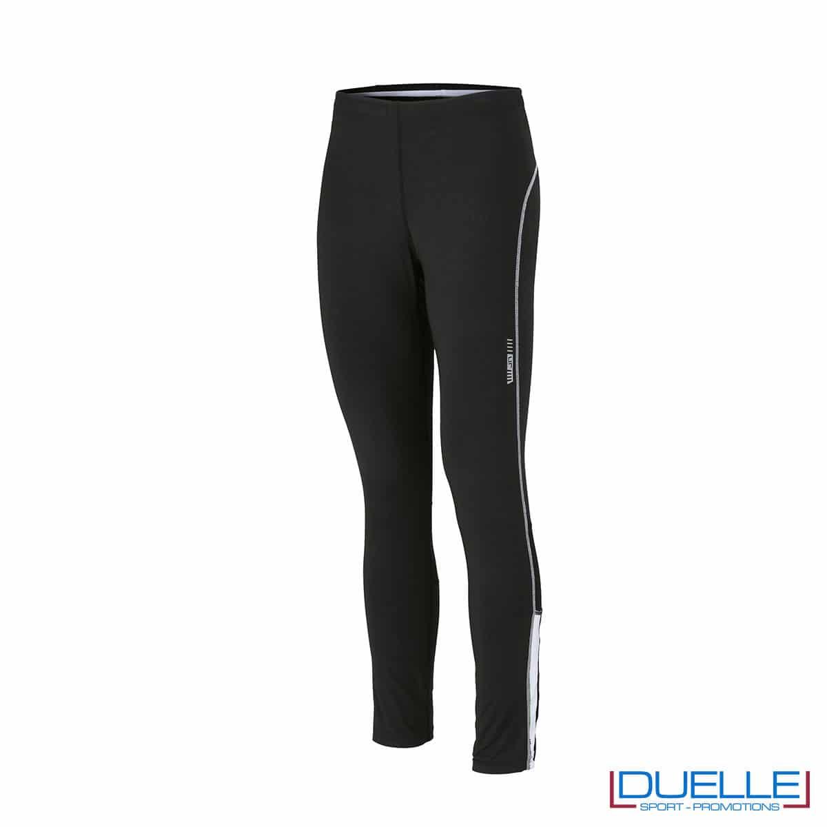 Pantaloni running nero /bianco personalizzati