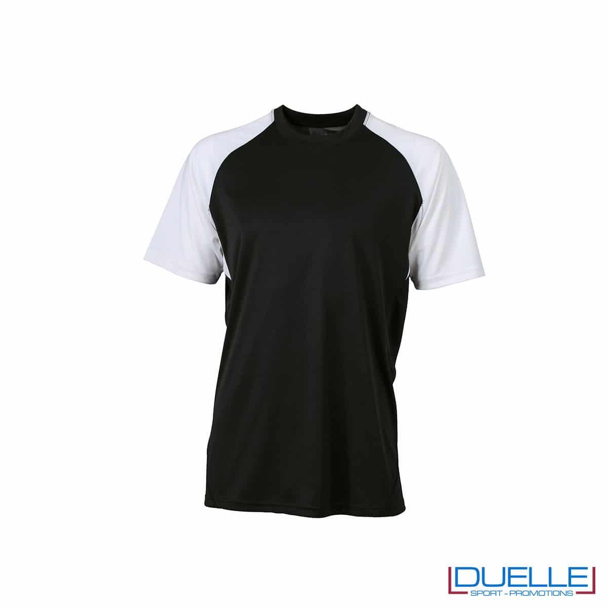 Maglietta calcio personalizzabile colore nero-bianco