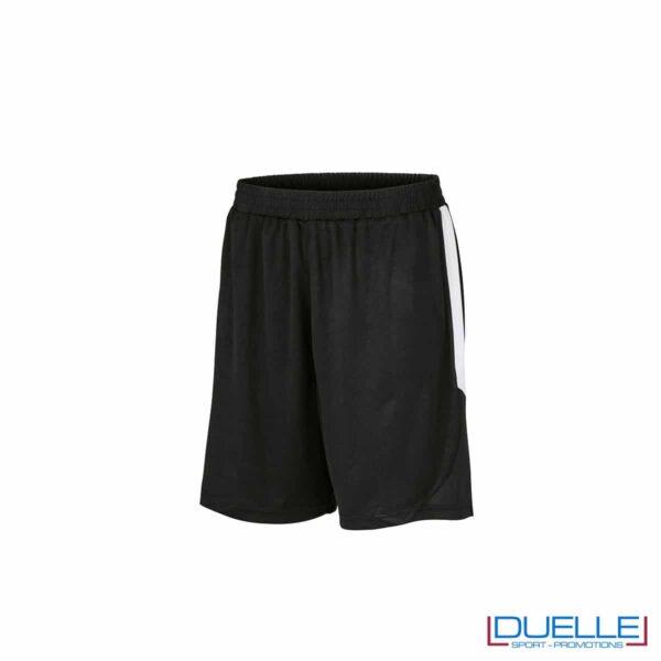 Pantaloncini calcio colore nero-bianco personalizzati