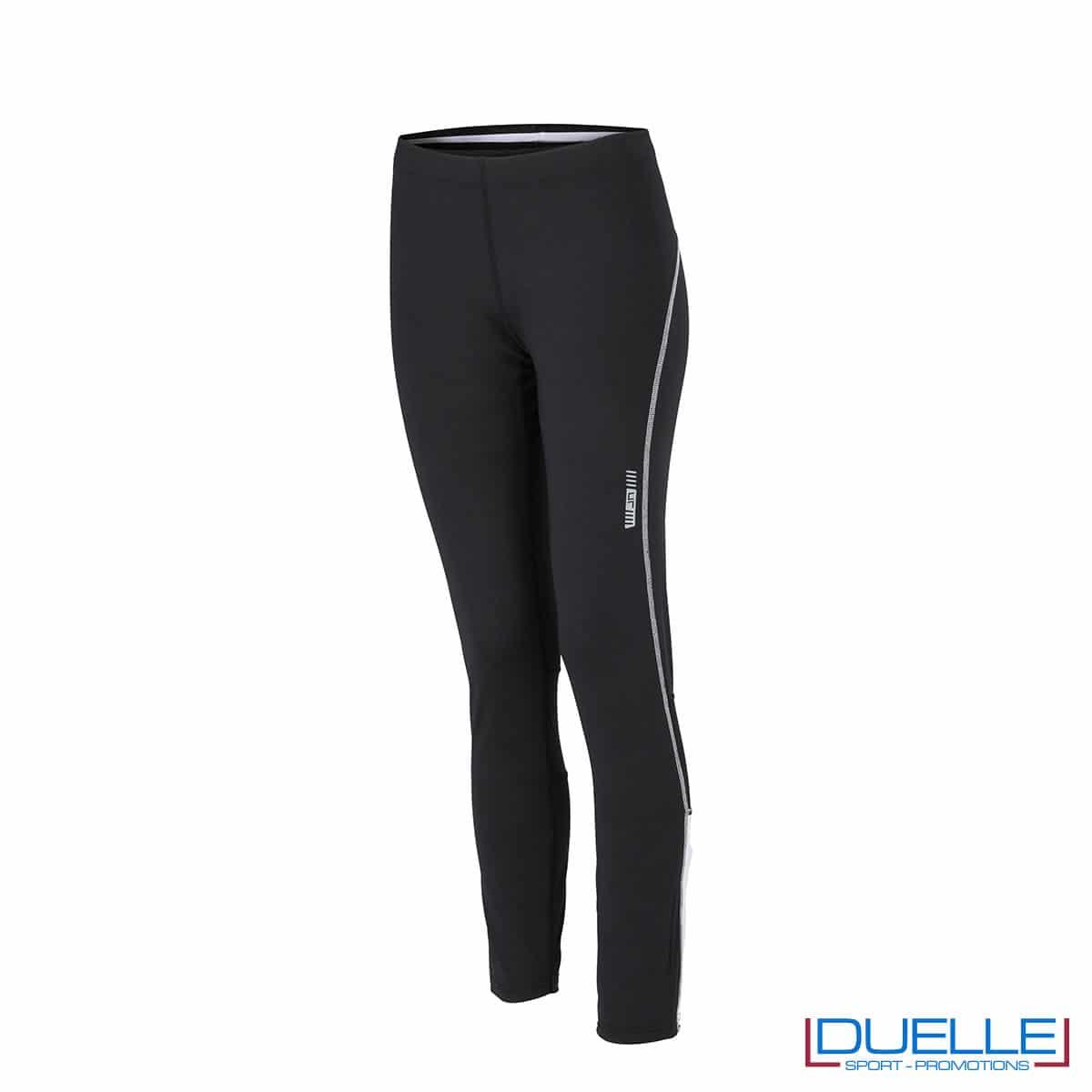 Pantaloni corsa donna nero/bianco personalizzati